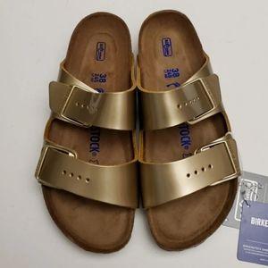 Birkenstock Arizona Gold Sandals 38